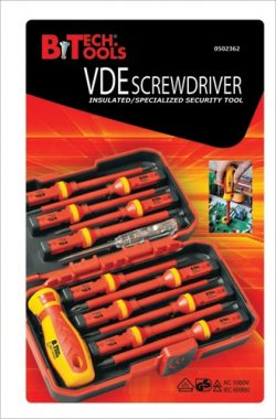 סט מברגים מתחלף - VDE 1000V כמות 13 יחידות ביטק btech