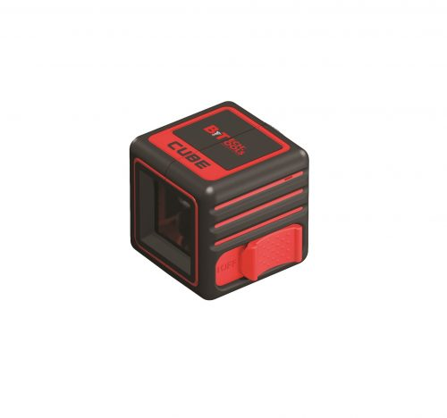 לייזר הקובייה אנכי אופקי וצד 2D + סוללות + מזוודה/נרתיק ביטק btech