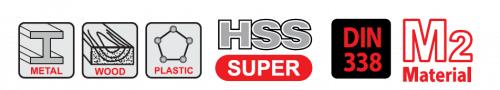 סט מקדחי מתכת HSS M2 PRO (מידות כל 0.5) - 25 יח' ביטק btech