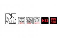 סט מקדחי PRO M2 HSS כמות 5 יח' ביטק btech