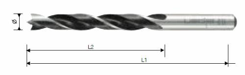 סט מקדחי עץ CR כמות 8 יח' ביטק btech
