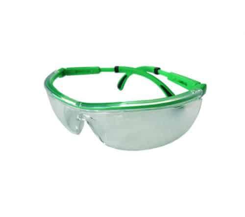משקפי מגן UV שקופות מסגרת ירוקה ביטק btech
