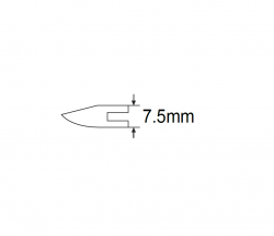 חותך צד פלסטיק שטוח קפיצי ביטק btech
