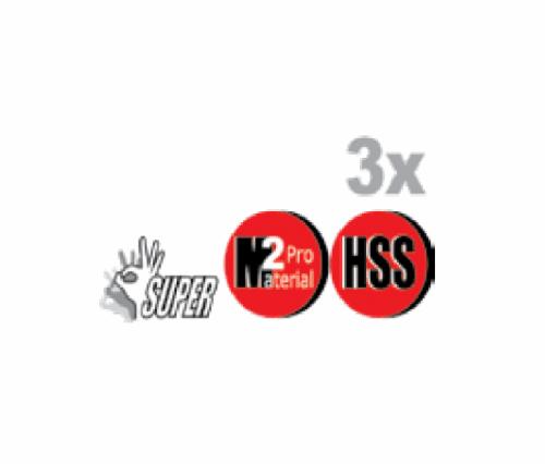 "מקדח לאימפקט SUPER M2 HSS מידה 1/4"" ביטק btech"