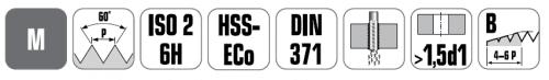 קובלט לאימפקט CO מברז מקדח סדרה 4740 ביטק btech