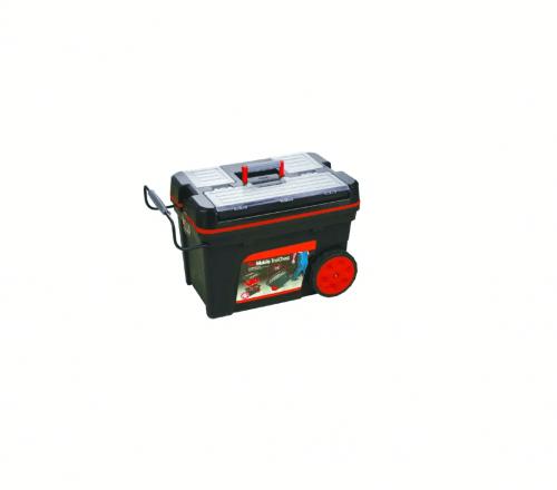 ארגז כלים נייד עם ידית טלסקופית ״ 24.5 ביטק btech