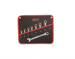 """סט מפתחות רצ׳ט רינג פתוח מ""""מ 8 יחידות ביטק btech"""